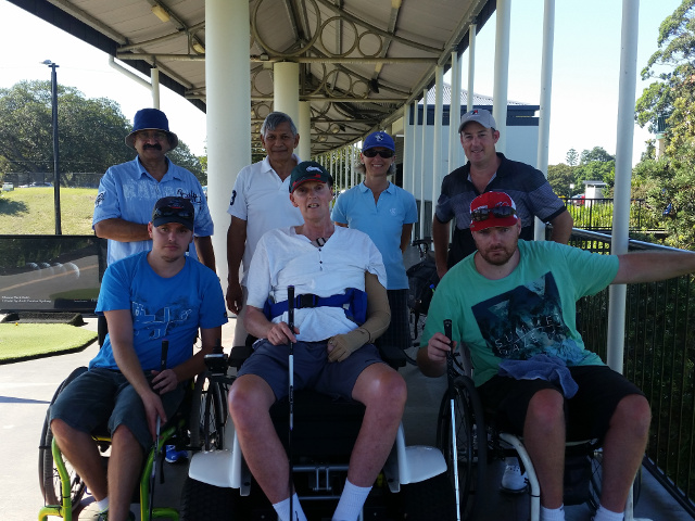 moore park golf hub, participants in a golf clinic posing for a photo