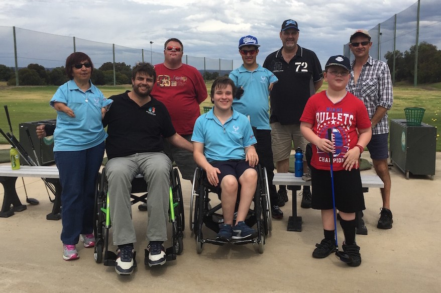 donate to empower golf, photo of players at a clinic day, thank you for your donation