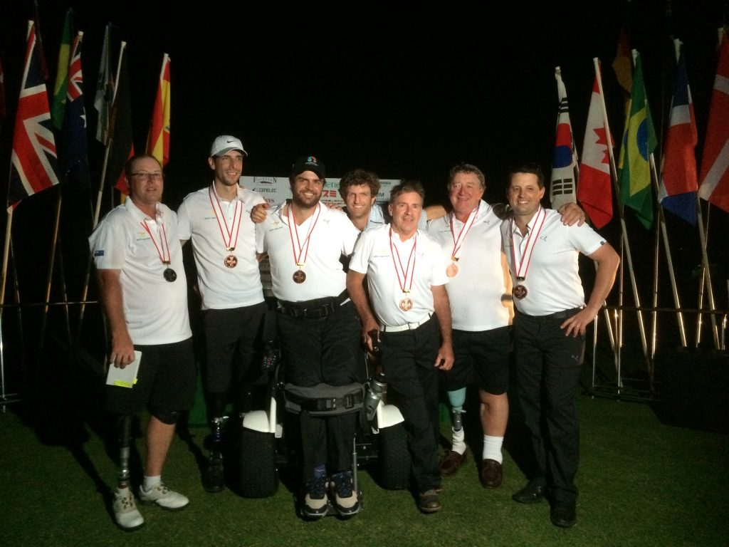 donate to empower golf, photo of players at a tournament