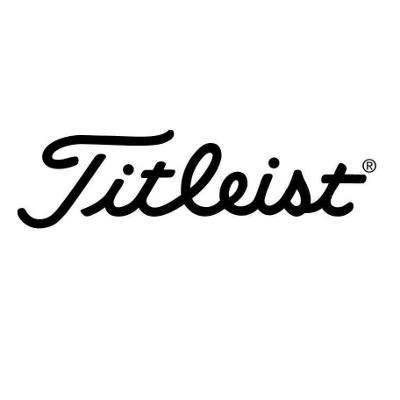 Logo Titleist golf equipment. Black text on white background