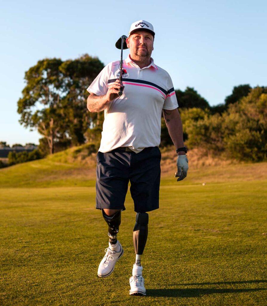 about empower golf, ben tullipan, coach, walking across golf course
