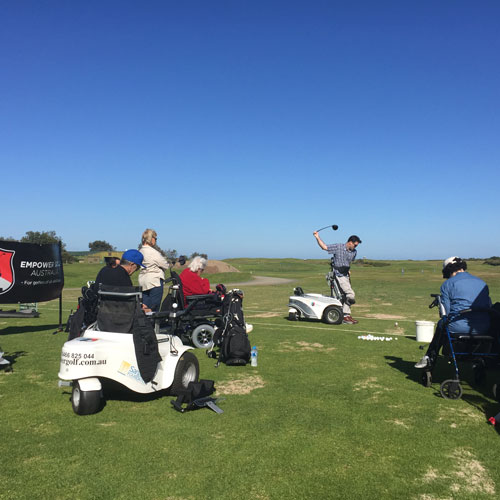 empower golf, come & try golf clinics, image of clinic