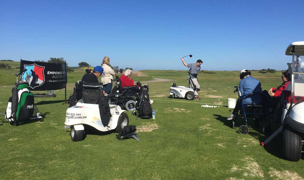 events with empower golf, image of a come and try golf clinic